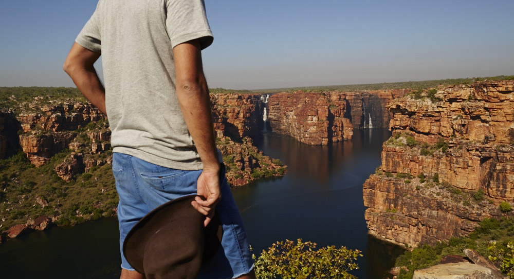 Enjoying the view at King George Falls