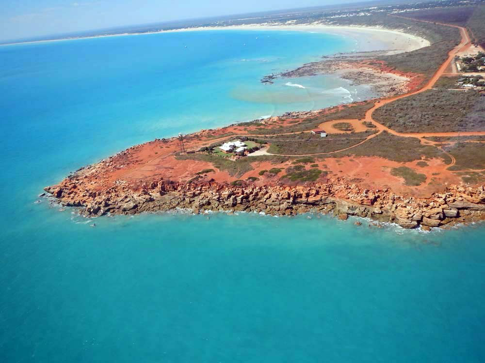 Aerial shot of Broome