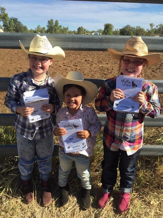 little cowgirls shot to go on goals page under the two boys carrying the bag